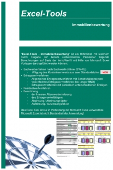 Immobilienbewertung - Excel Tools